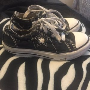 Converse Black All Star toddler tennis shoes
